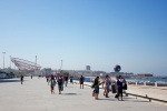 The sidewalk at Matosinhos beach